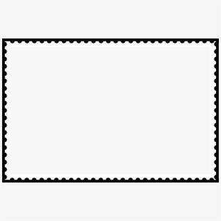 Stamp outline postage . Postcard clipart postal