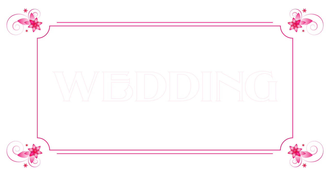 Wedding banner pink flowers. Postcard clipart postcard london