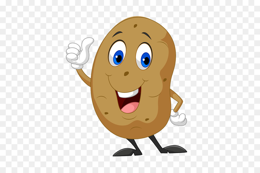Potato clipart. Royalty free stock photography
