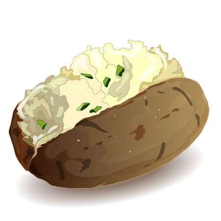 Potato clipart baked potato. Station