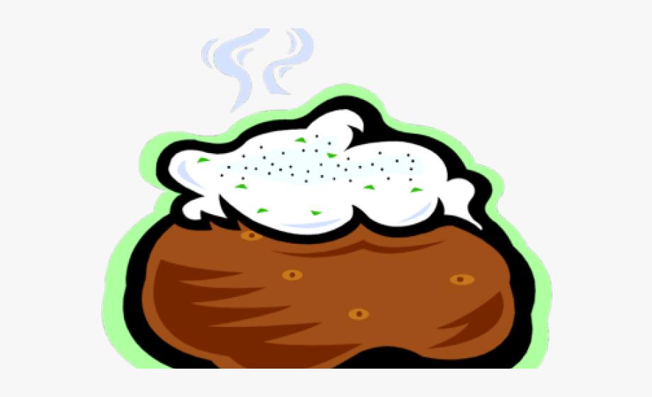Transparent background . Potato clipart baked potato