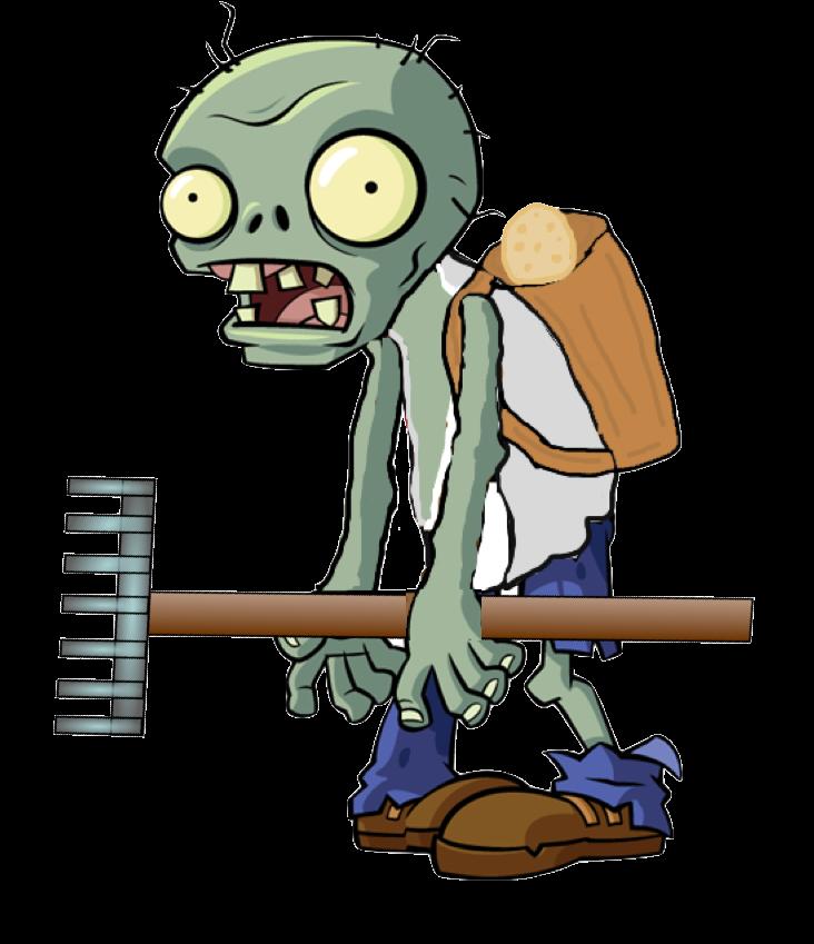 Faminer zombie plants vs. Potato clipart character