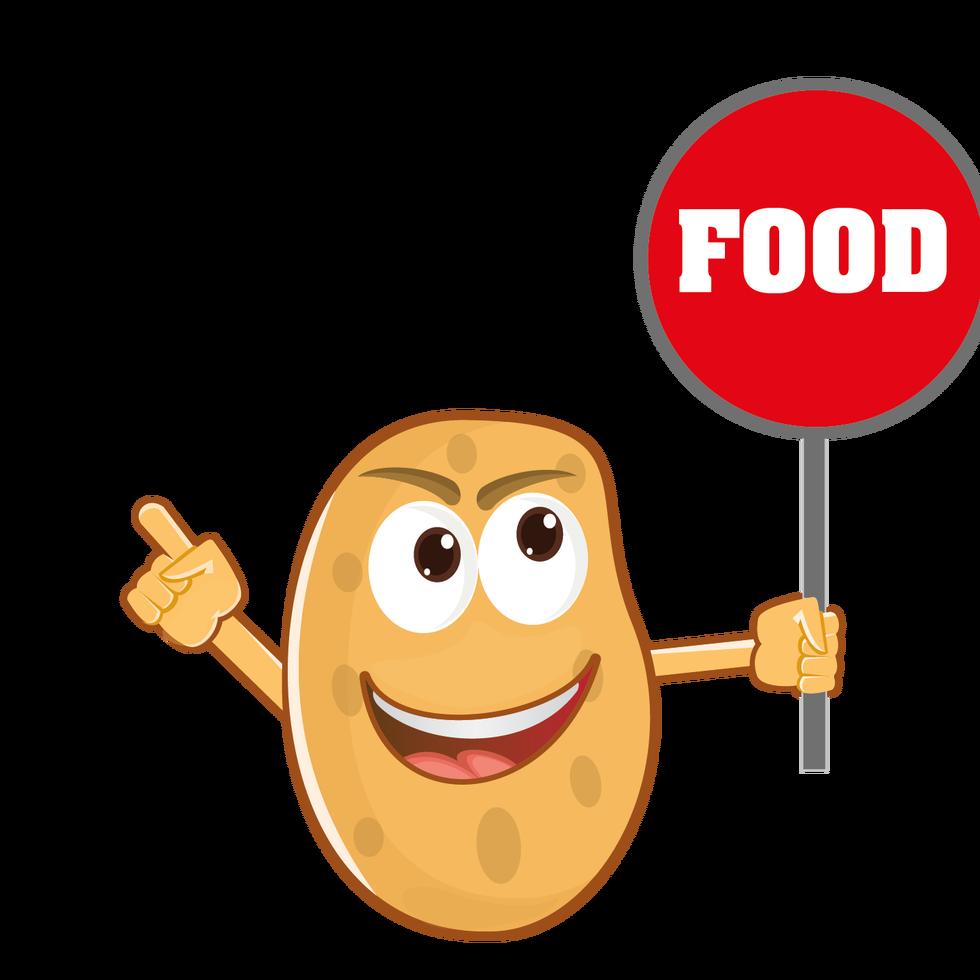 Cartoon cartoonsigns. Potato clipart character