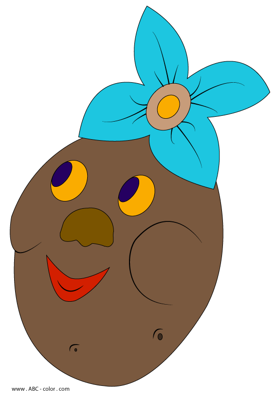 Mask raster . Potato clipart color