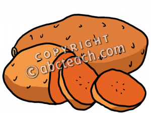 Potato clipart color. Clip art sweet potatoes
