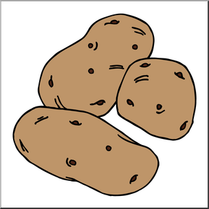 Clip art potatoes i. Potato clipart color