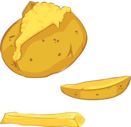 Potato clipart cooked potato. Free baked potatoes cliparts