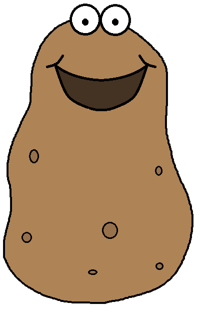 Download clip art on. Potato clipart free cartoon