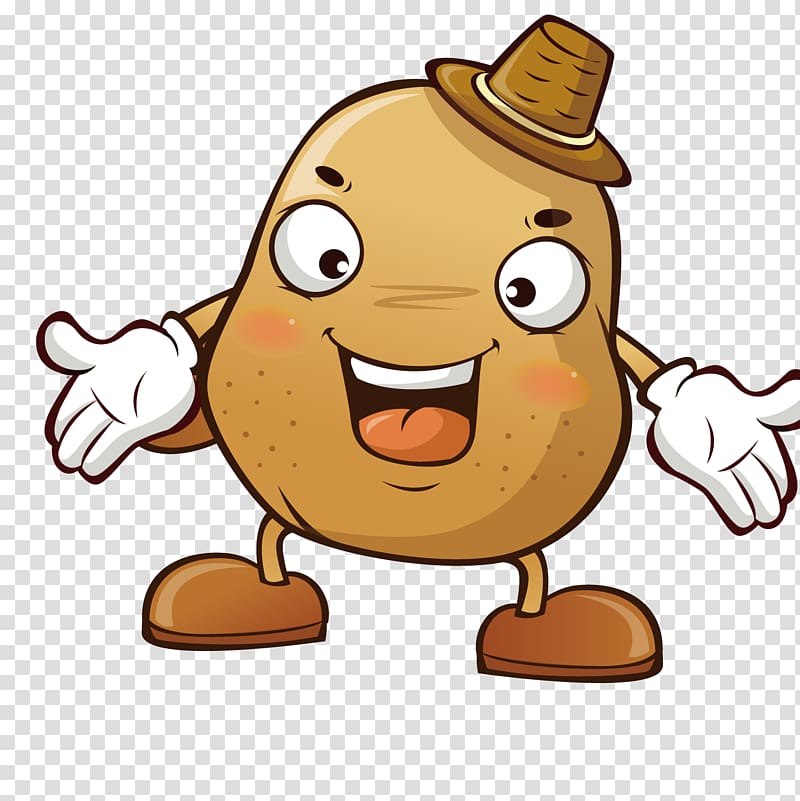 Potato clipart hat. With brown animated illustration