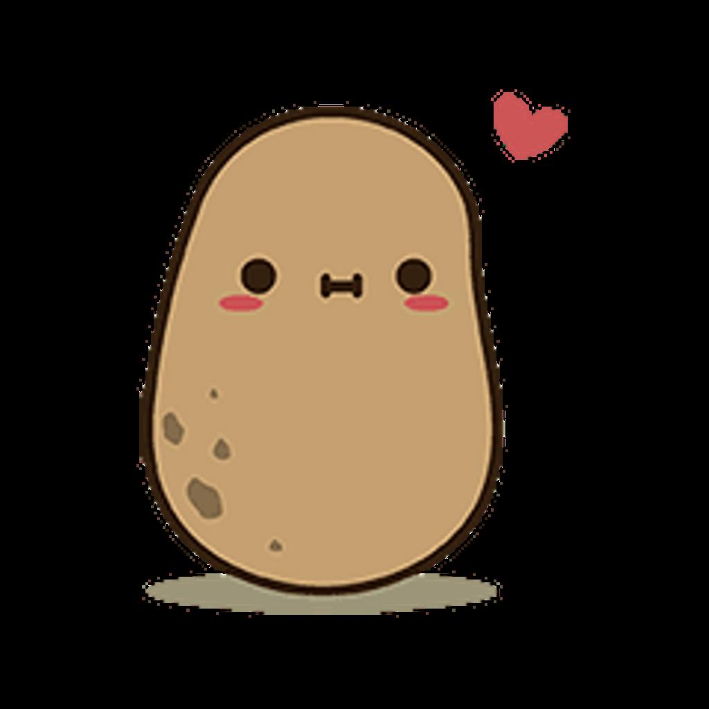 Potato clipart kawaii. Cutie freetoedit sticker by