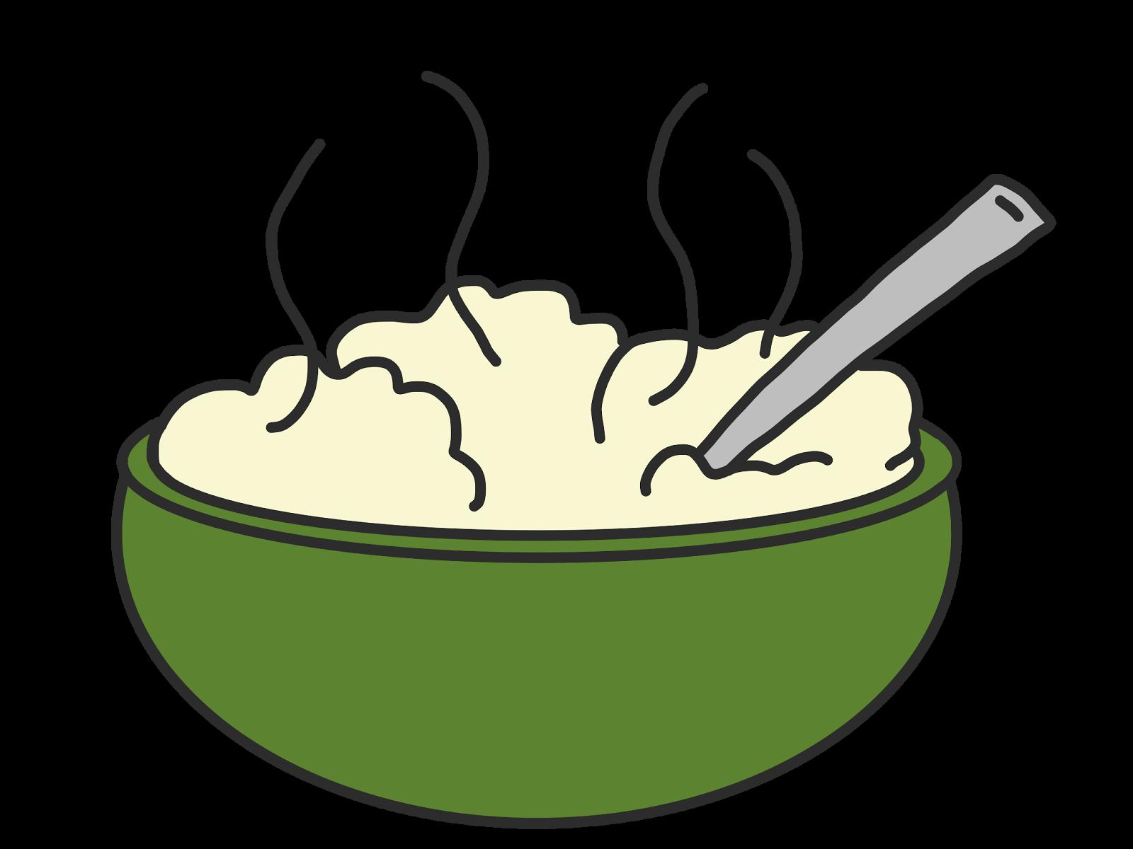 Linking up and answering. Potato clipart mash potato