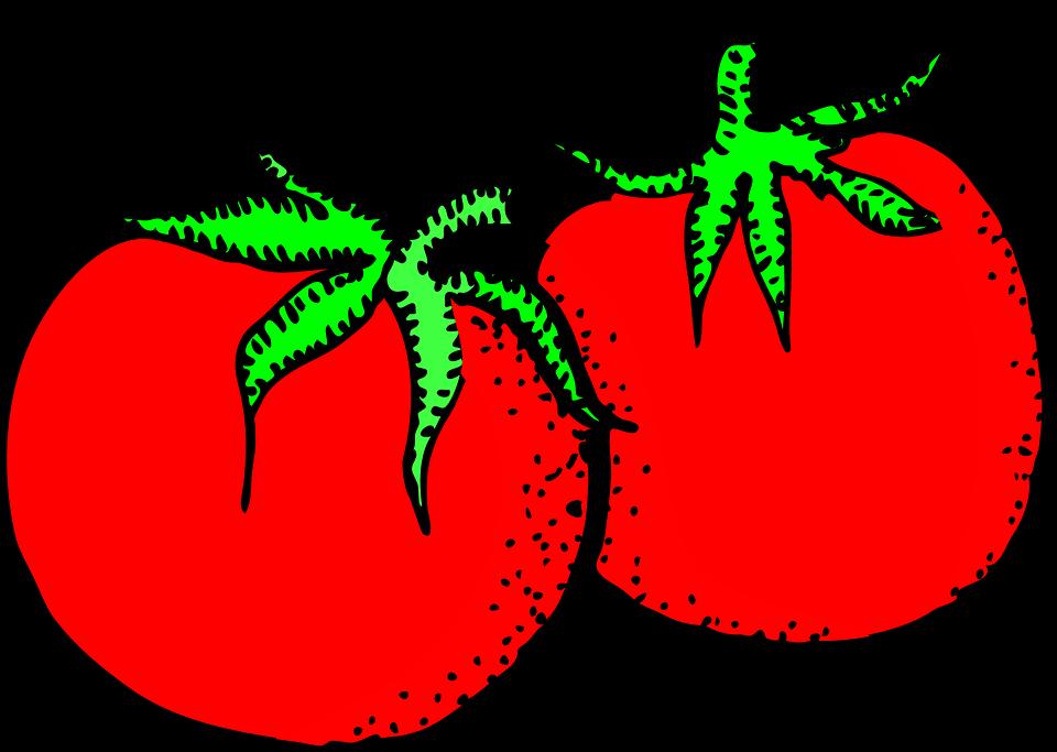 Tomato red object frames. Potato clipart smile