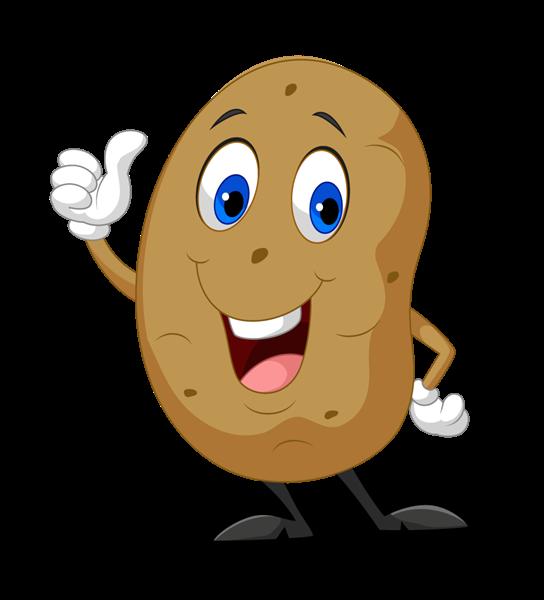 Potato clipart smile. Royalty free stock photography