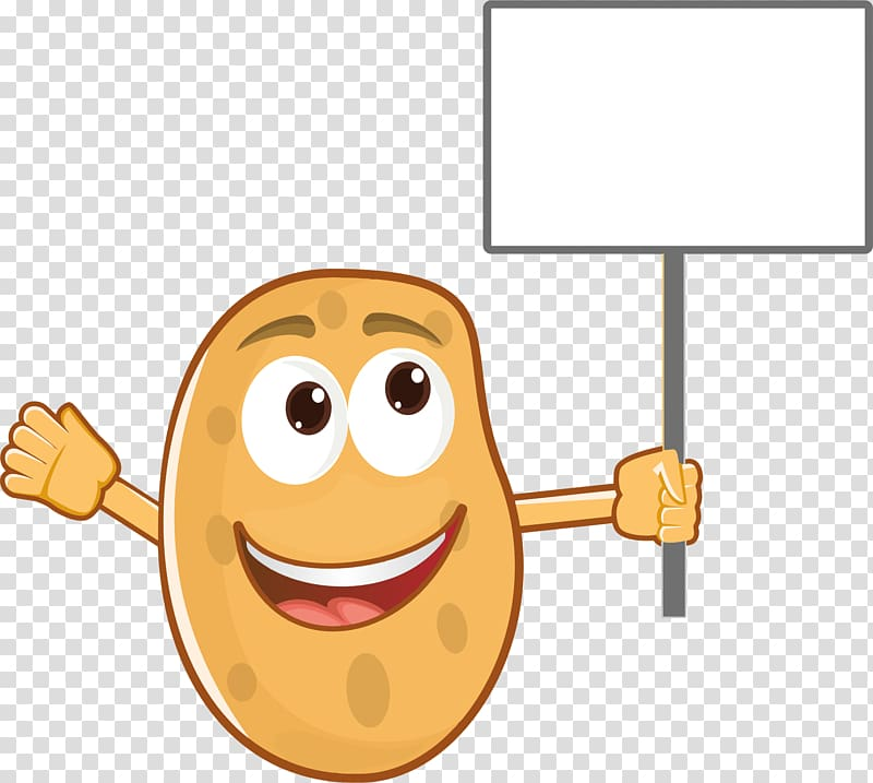 Baked junk food french. Potato clipart smile