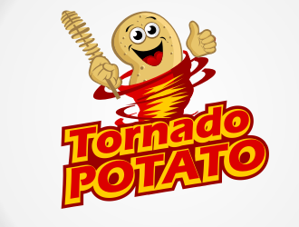 Tornado logo by rhonda. Potato clipart spiral potato