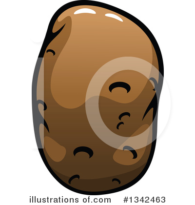 Potato clipart vector. Illustration by tradition sm