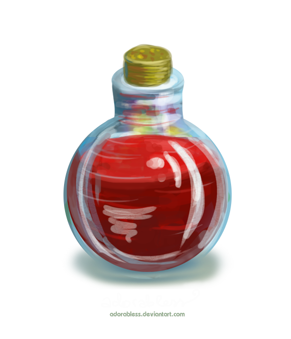 Potion bottle png. Life level point open