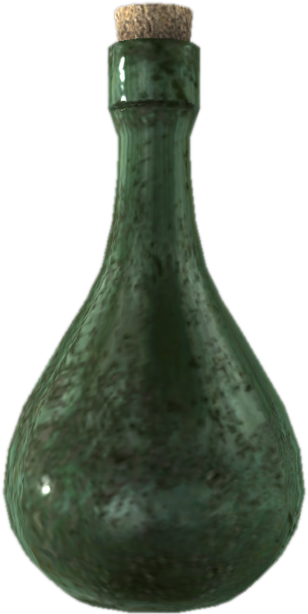 Image empty wine elder. Potion bottle png