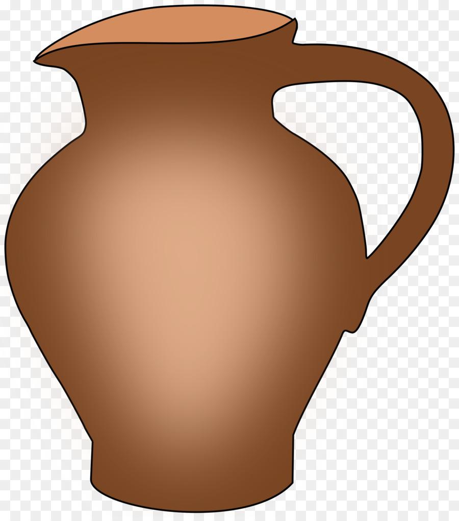 Jug clay clip art. Pottery clipart