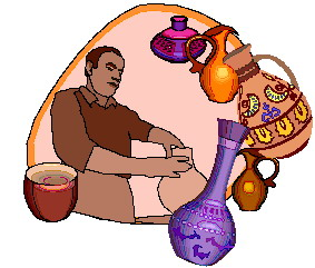 Pottery clipart. Clip art activities making