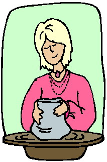 Clip art activities making. Pottery clipart