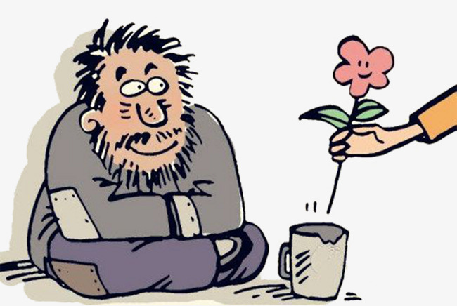 Cartoon poor beggar png. Poverty clipart