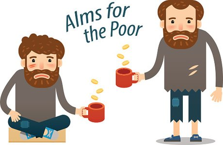 Poverty clipart almsgiving. Street hungry man asks