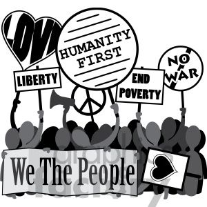 Rally protest sign x. Poverty clipart conservative