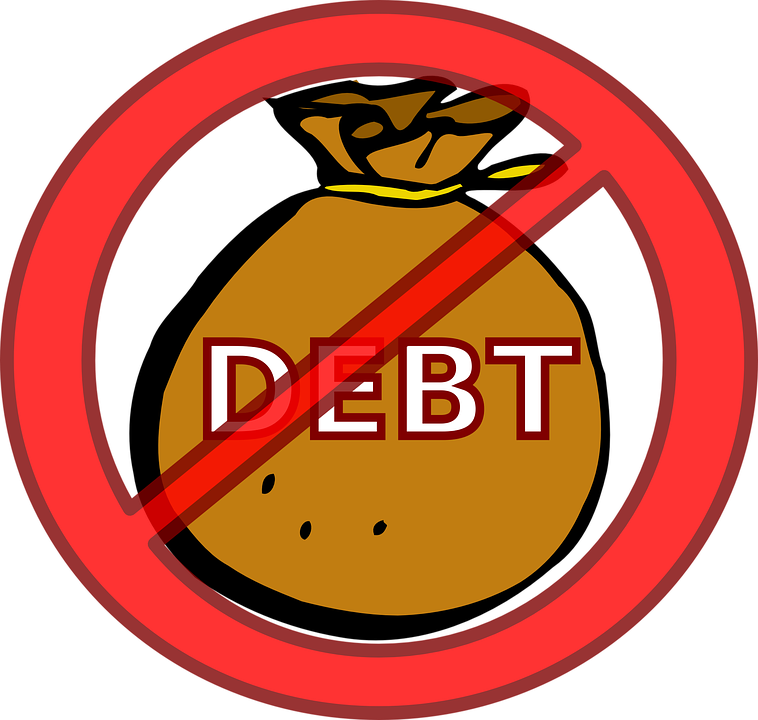 Collection of debt free. Poverty clipart debtor