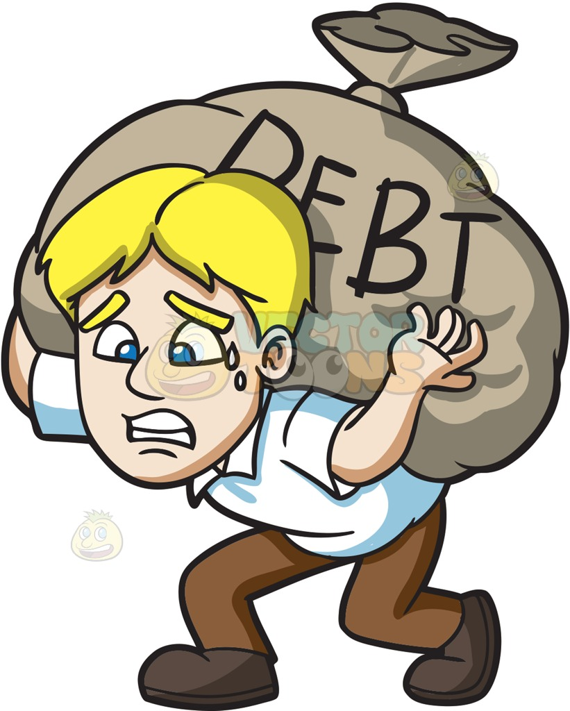 Poverty clipart debtor. Collection of debt free