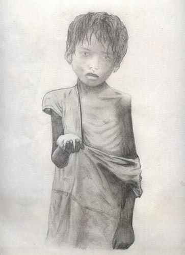 Poverty clipart less fortunate. Child sketch google search