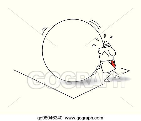 Poverty clipart metaphor. Eps illustration the businessman