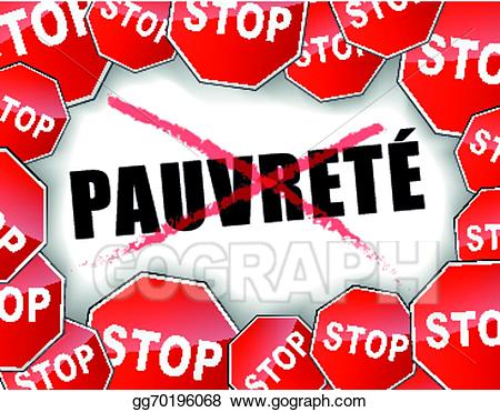 Poverty clipart metaphor. Eps vector stop french