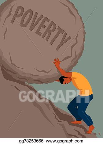 Eps vector endless struggle. Poverty clipart metaphor