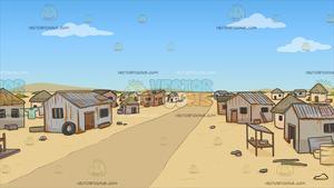 Poverty clipart poor neighborhood. A slum in the