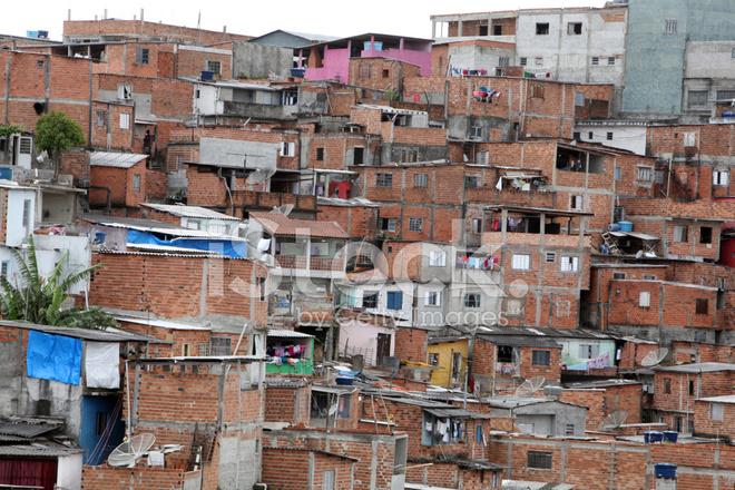 Slum in of sao. Poverty clipart poor neighborhood