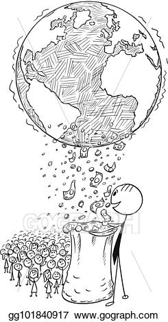 Vector conceptual of world. Poverty clipart poverty cartoon