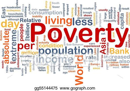 Word cloud stock illustration. Poverty clipart poverty line