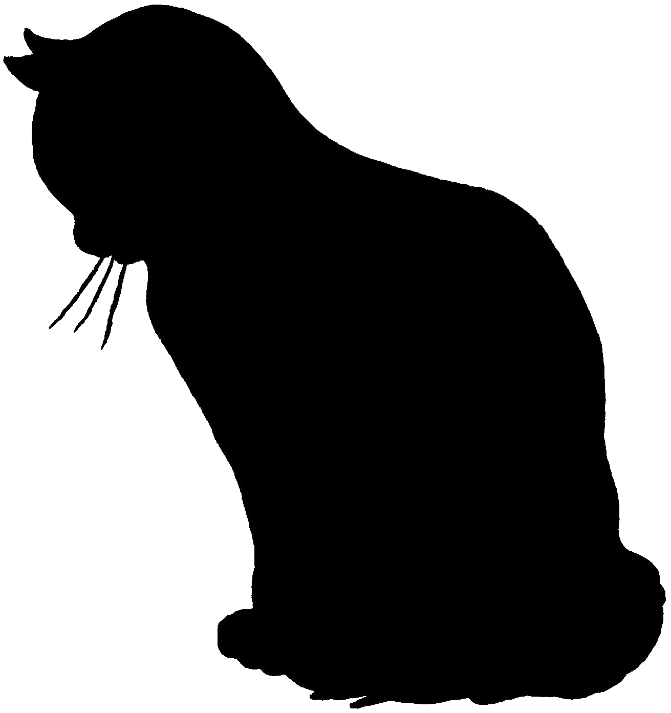 Silhouette of cats group. Walrus clipart color