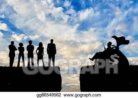 Poverty clipart social injustice. Stock illustration inequality between