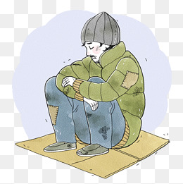 Poor png vectors psd. Poverty clipart tattered clothes