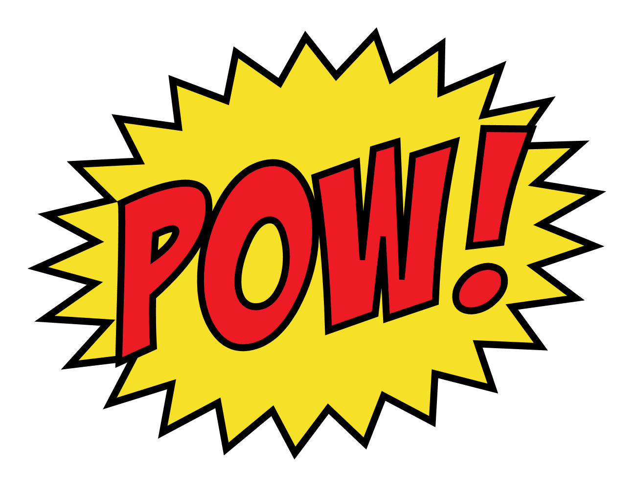 Free pow cliparts download. Boom clipart