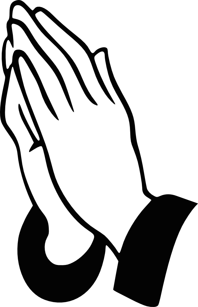 Number 1 clipart hand. Prayer panda free images