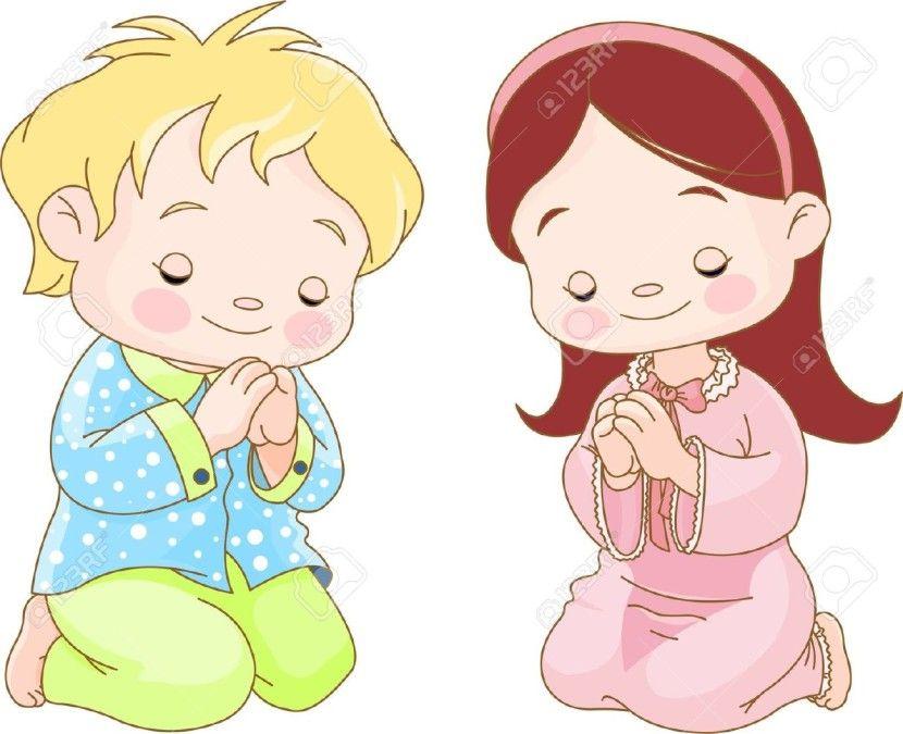 Pray clipart. Child praying clipground sunday