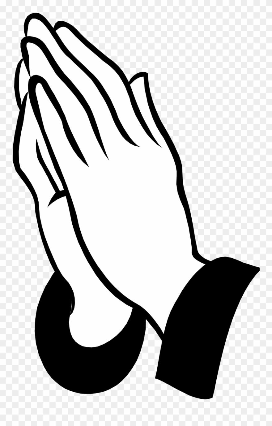 Pray request praying hands. Funeral clipart prayer