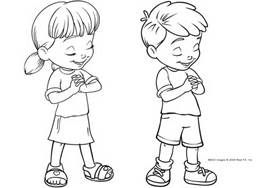 Pray clipart childrens. Free clip art child