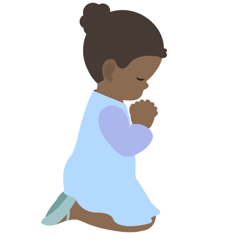 Pray clipart childrens.  collection of black