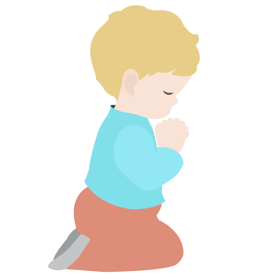Boy praying . Kite clipart group