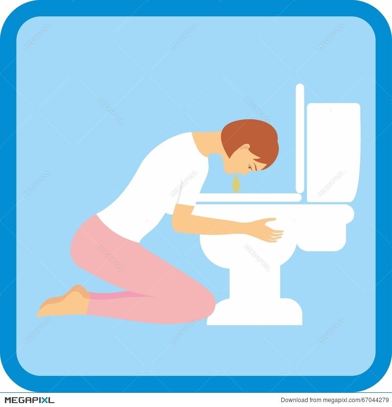 Pregnancy clipart pregnancy symptom. Woman experiencing morning sickness