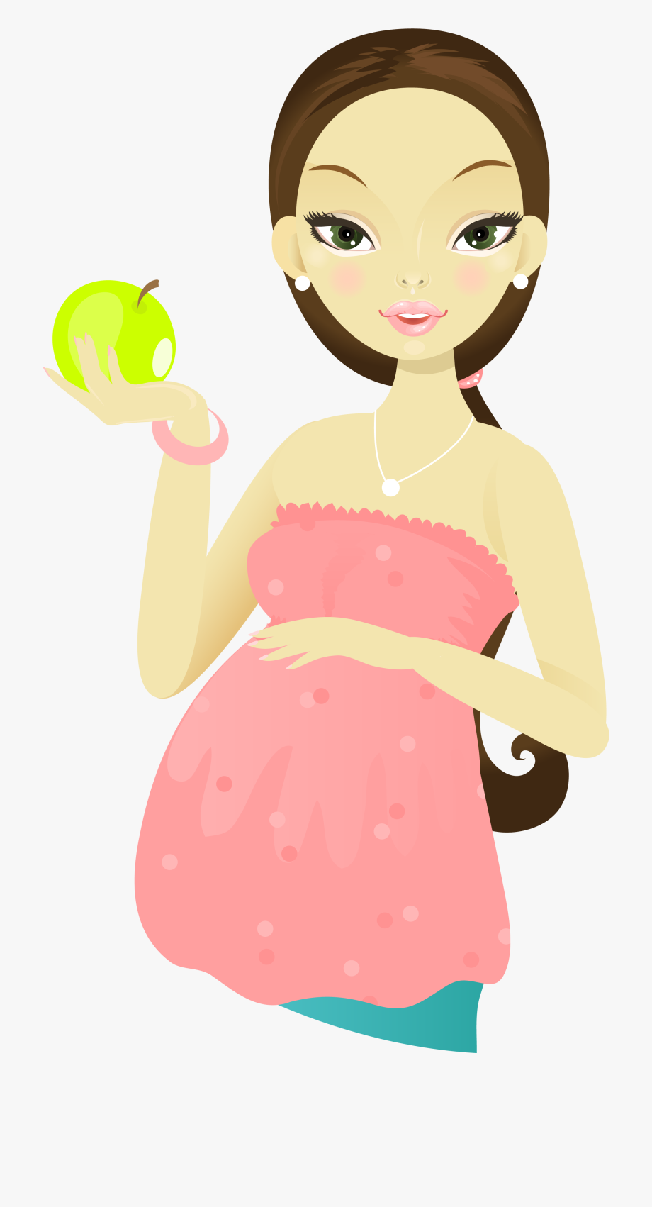 Cartoon woman holding png. Pregnancy clipart pregnant mother